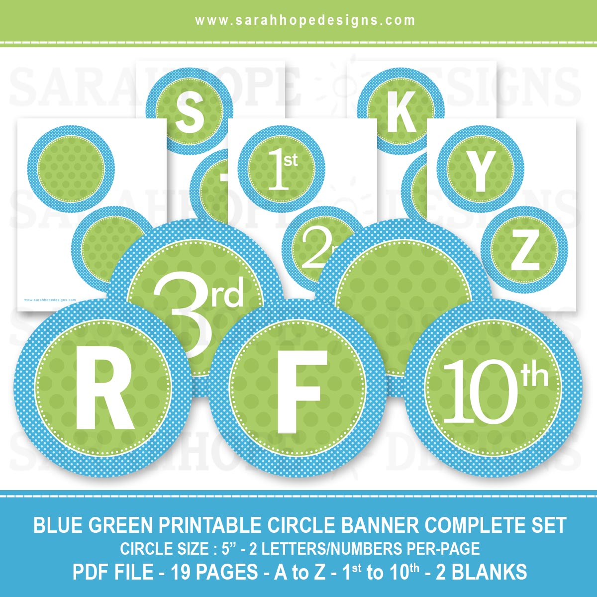 6 Images of Free Printable Banner Blue