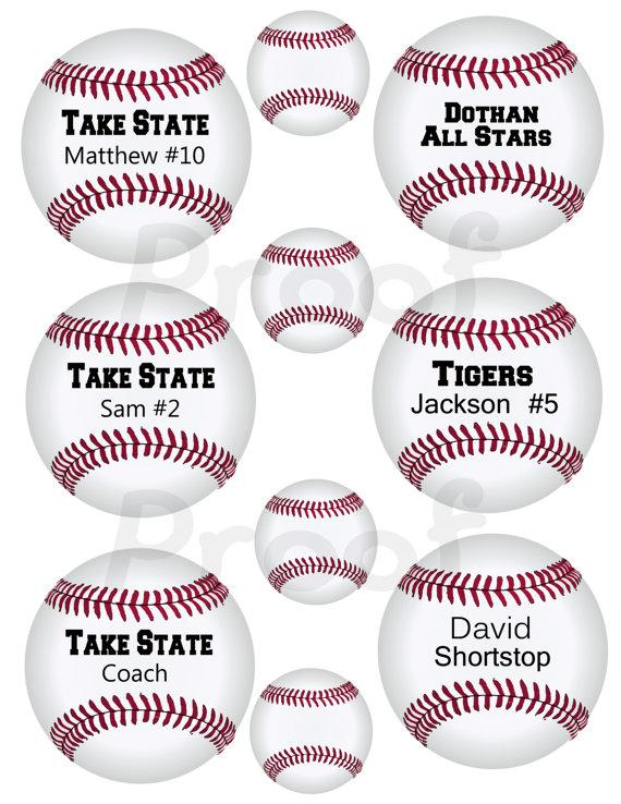 4 Images of Free Printable Baseball Tags