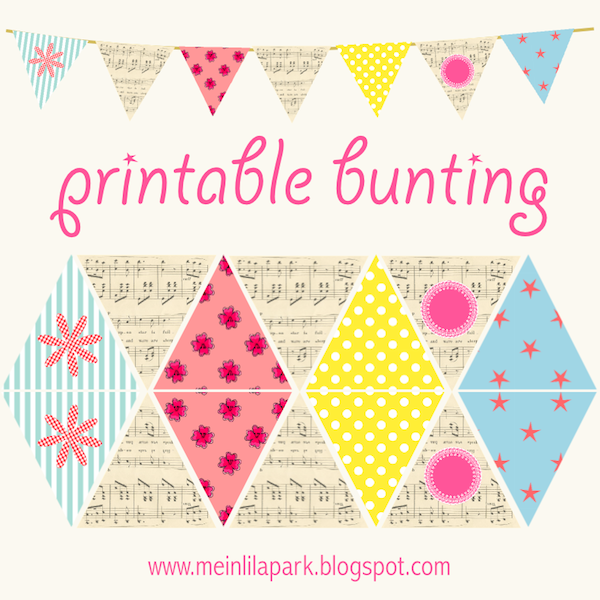 5 Images of Free Printable Paper Bunting