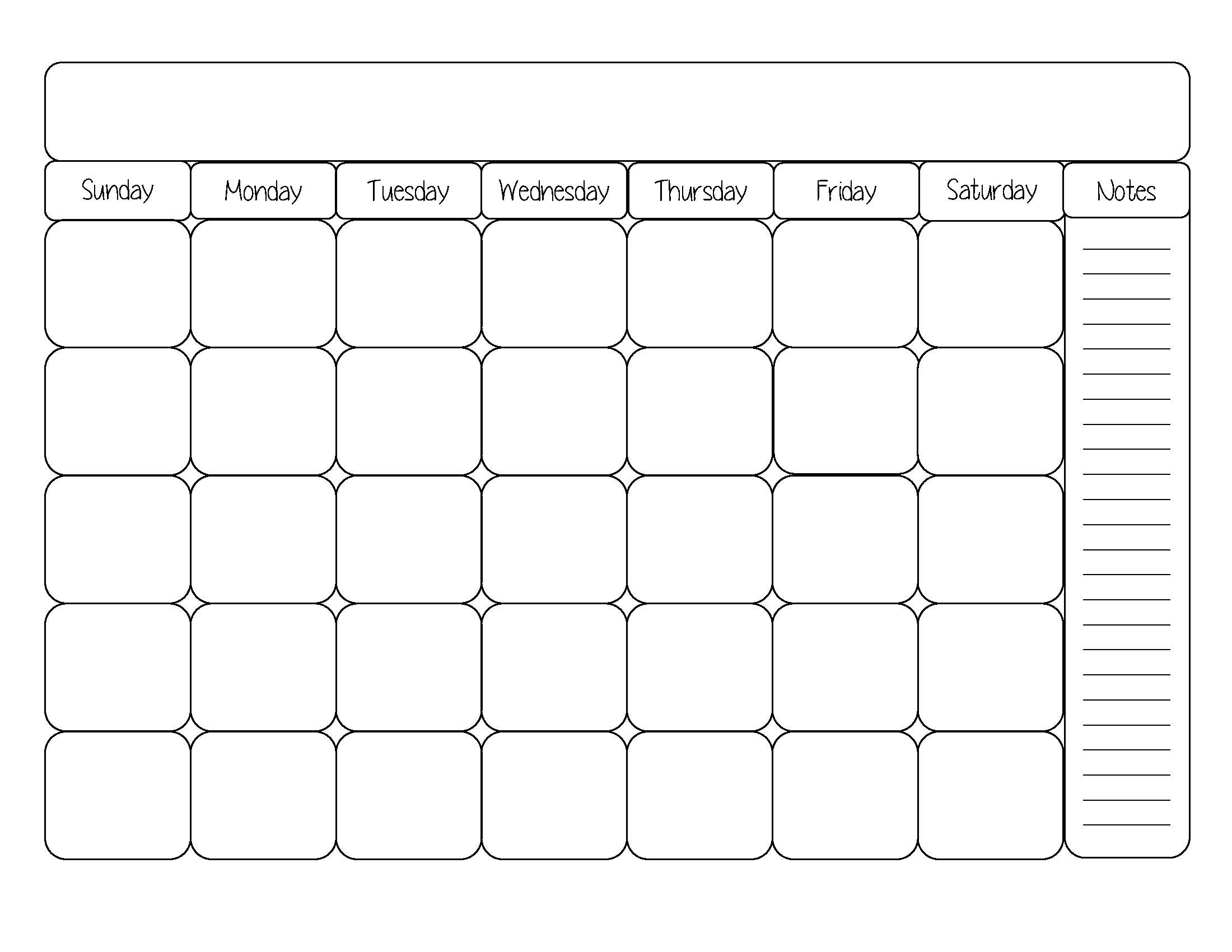 Free Printable Calendar Templates 8 X 10