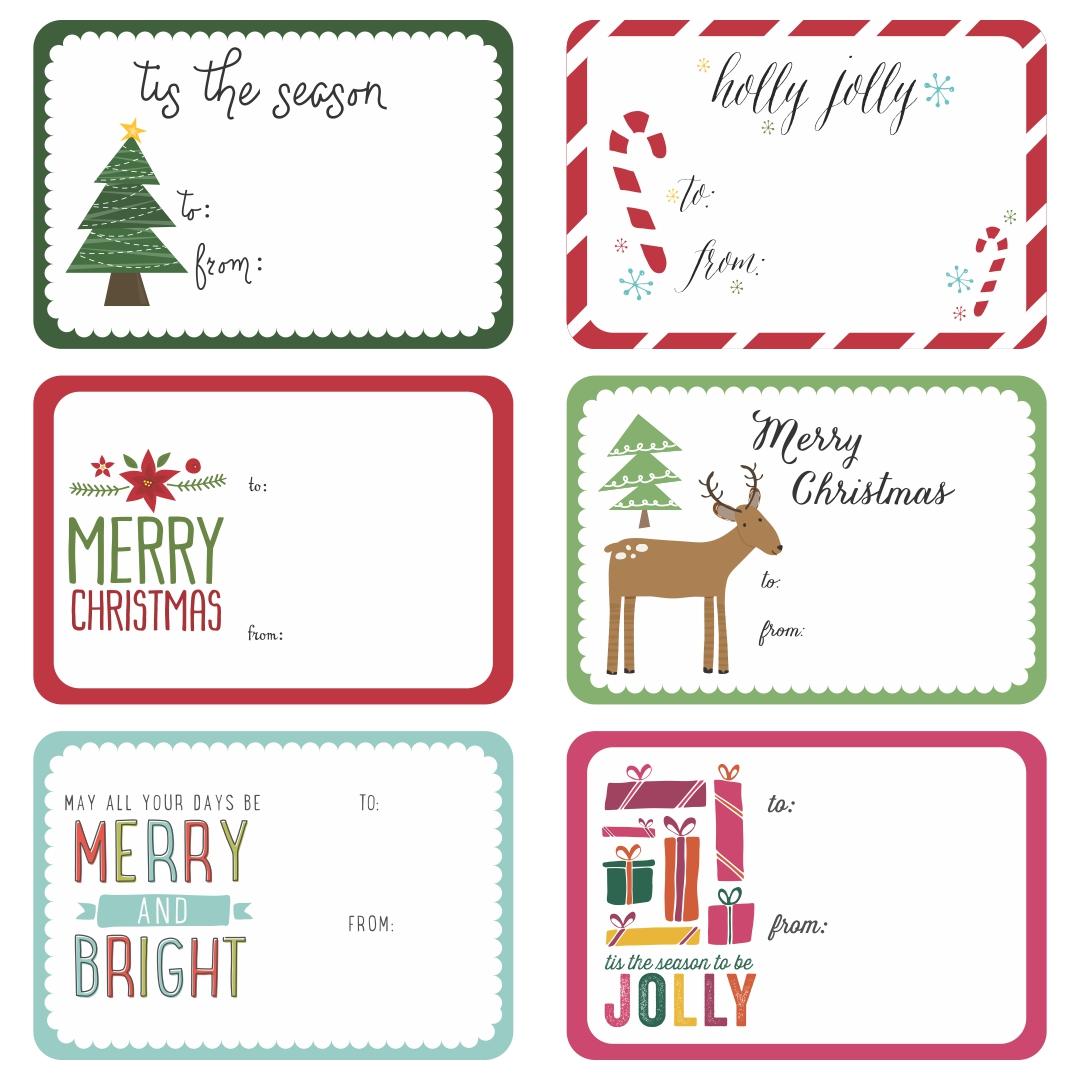 7 Images of Fun Christmas Gift Tag Printables