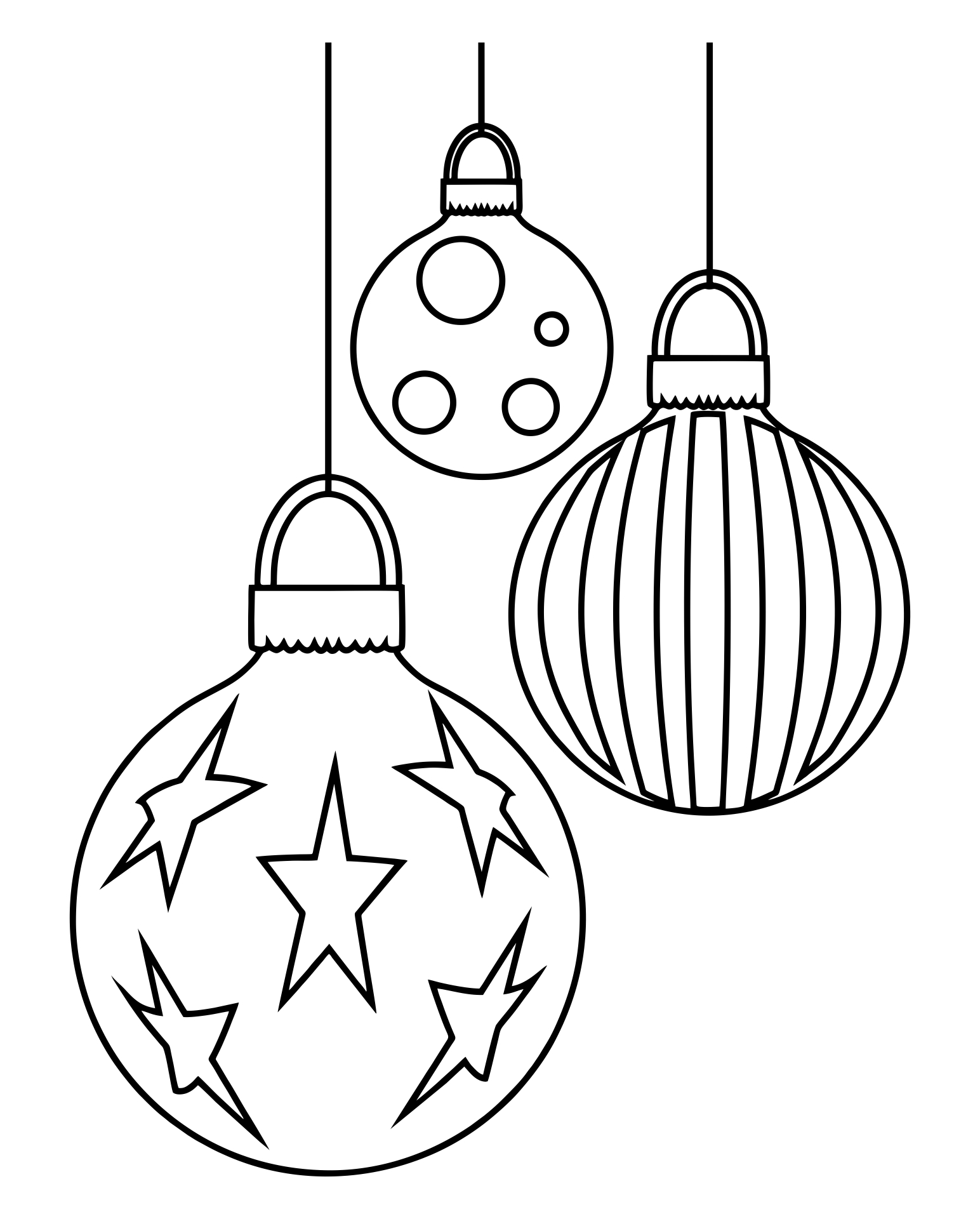 5 Images of Printable Christmas Ornaments To Color