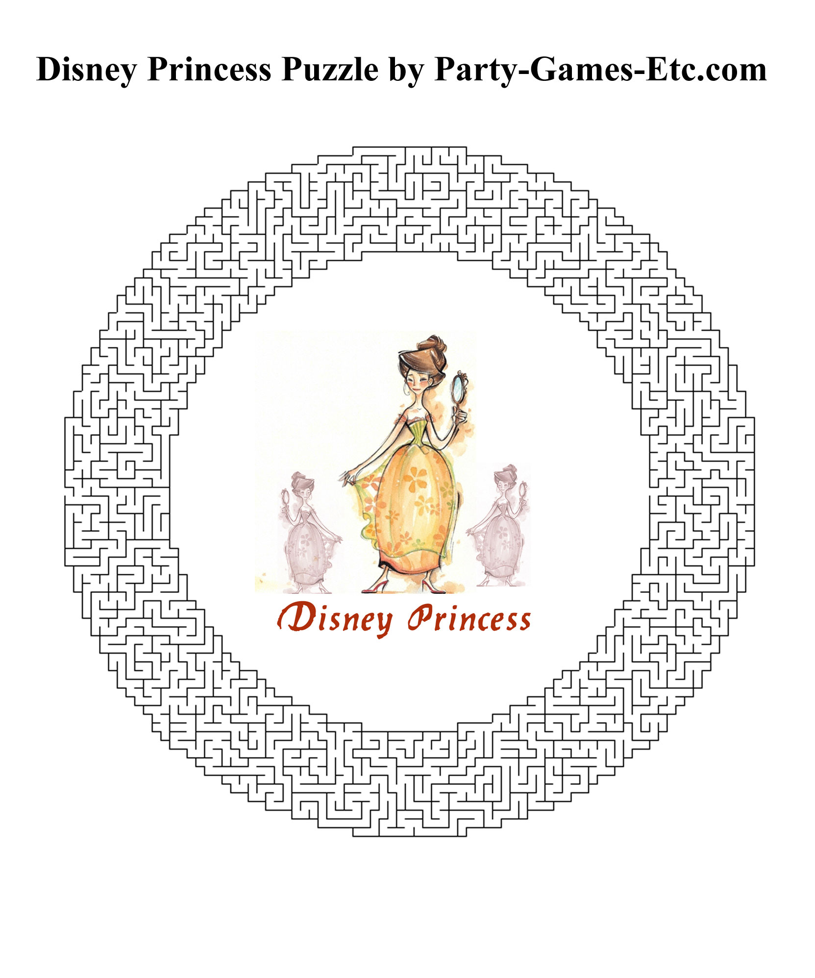 8 Images of Disney Princess Printable Activities