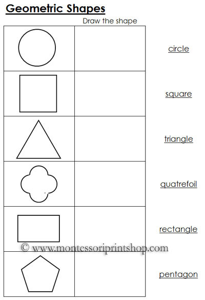 7 Images of Kindergarten Geometric Shapes Puzzles Printable