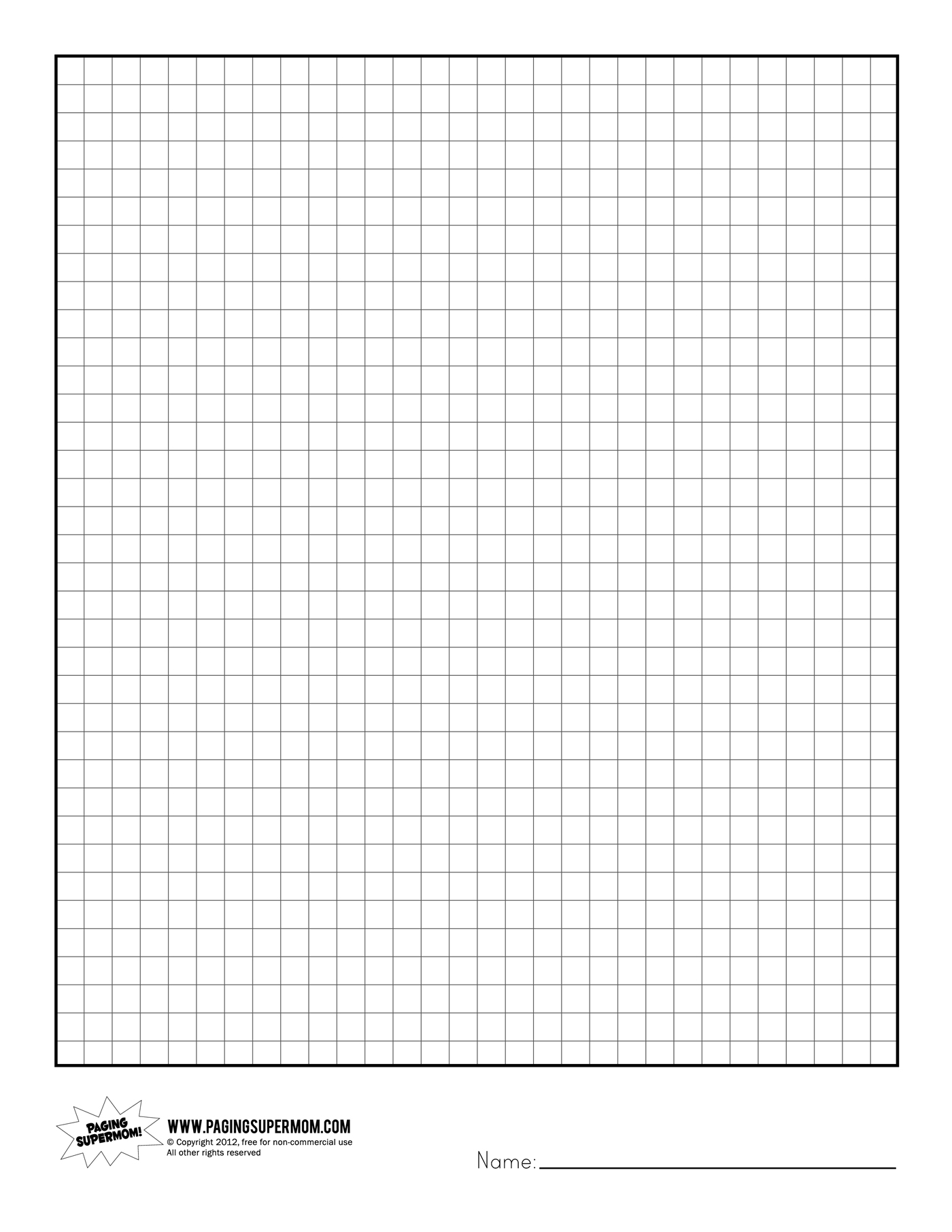 6 Best Images of Printable Graph Paper For Teachers - Free ...