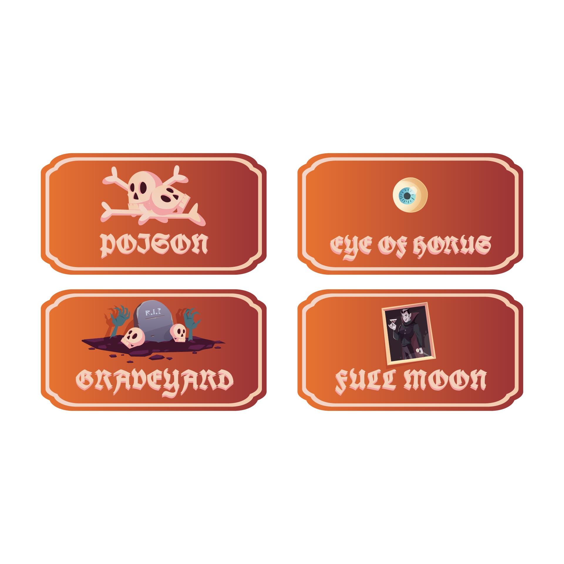 Printable Halloween Apothecary Jar Labels
