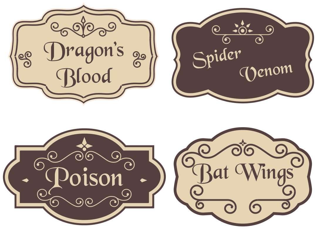 Printable Halloween Potion Bottle Labels
