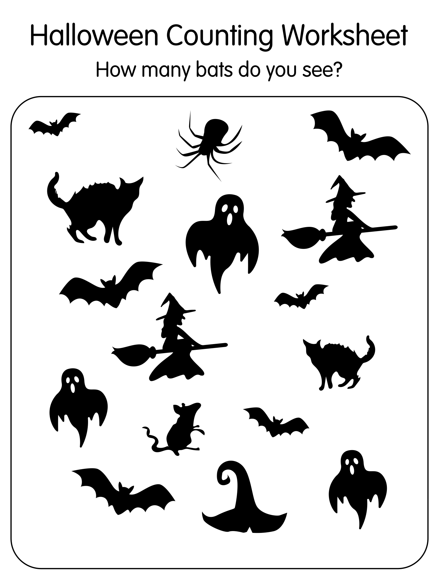 5 Images of Free Halloween Printables Kindergarten