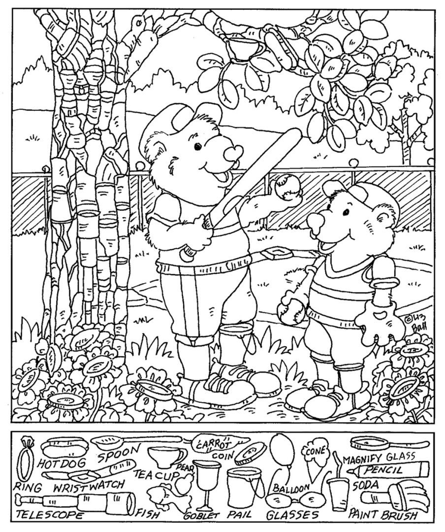 Printable Hidden Picture Coloring Pages