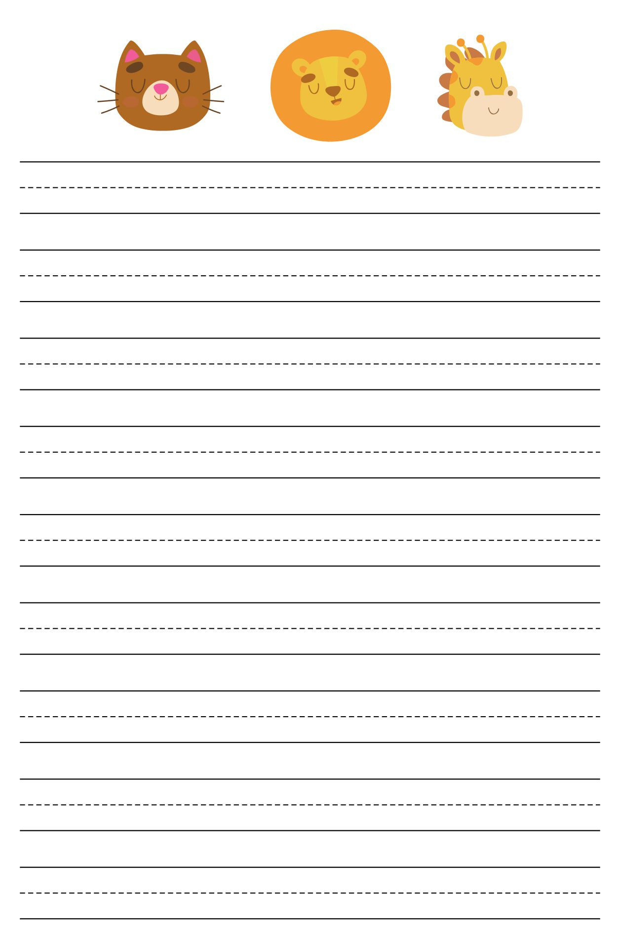 Printable Blank Writing Pages