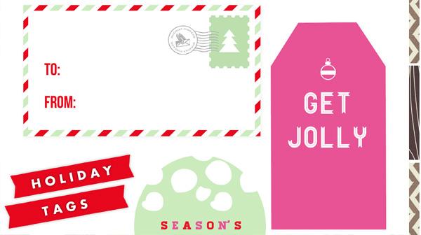 Printable Mason Jar Christmas Gift Tags