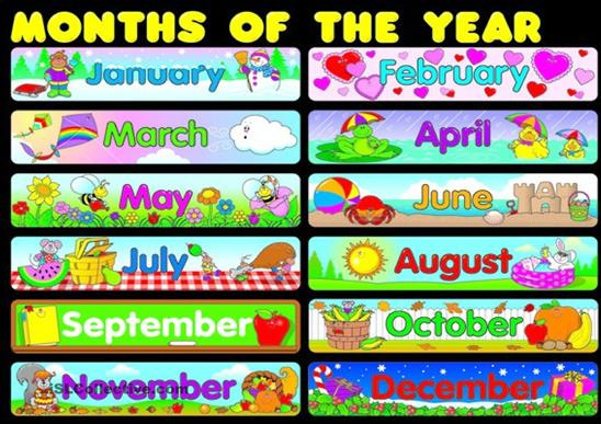 See Months of Year Calendar, Months of the Year Chart & Months of Year ...