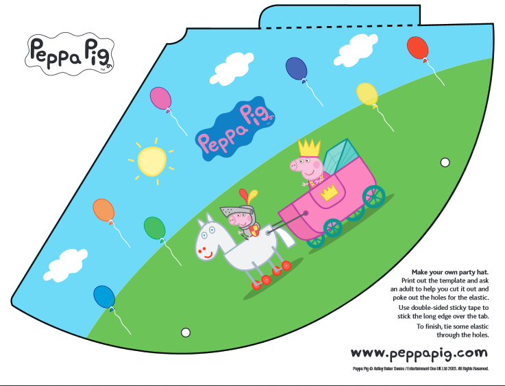 6 Images of Peppa Pig Party Free Printables