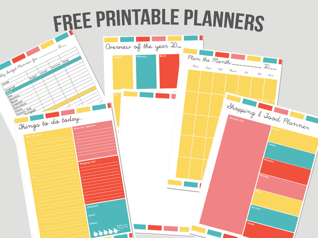 8 Images of Free Household Planner Printables