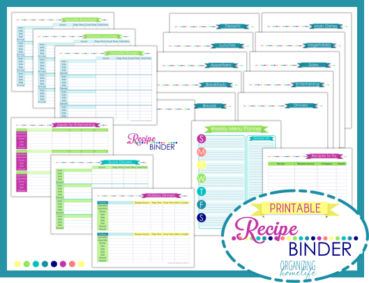 8 Images of Free Printable Recipe Binder Pages
