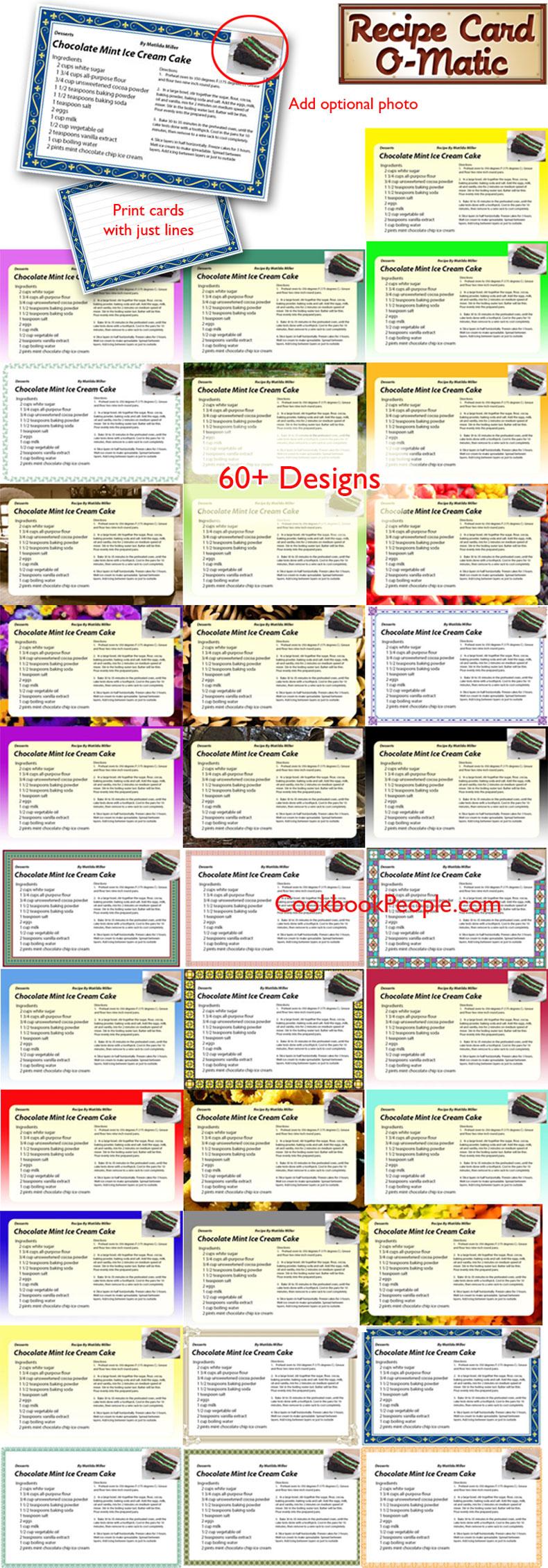 6 best images of printable cookbook templates cookbook recipe page template cookbook template. Black Bedroom Furniture Sets. Home Design Ideas