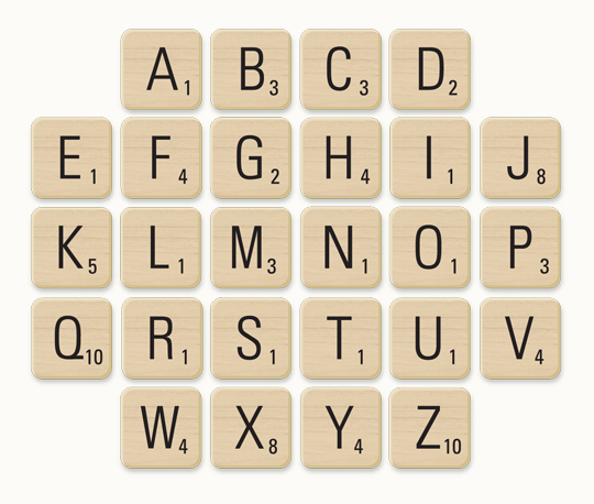 7 Images of Printable Scrabble Pieces