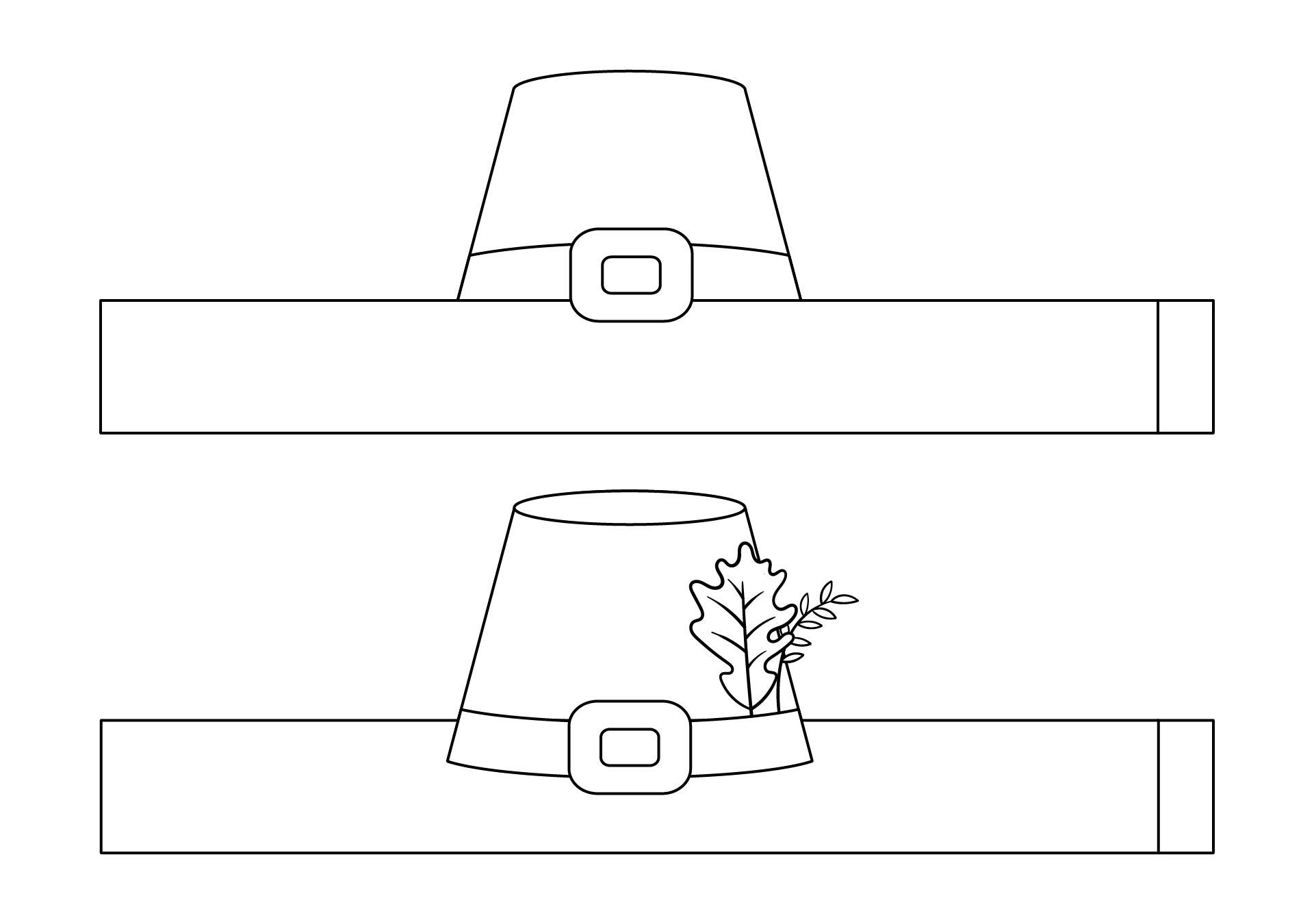 Printable Thanksgiving Hats