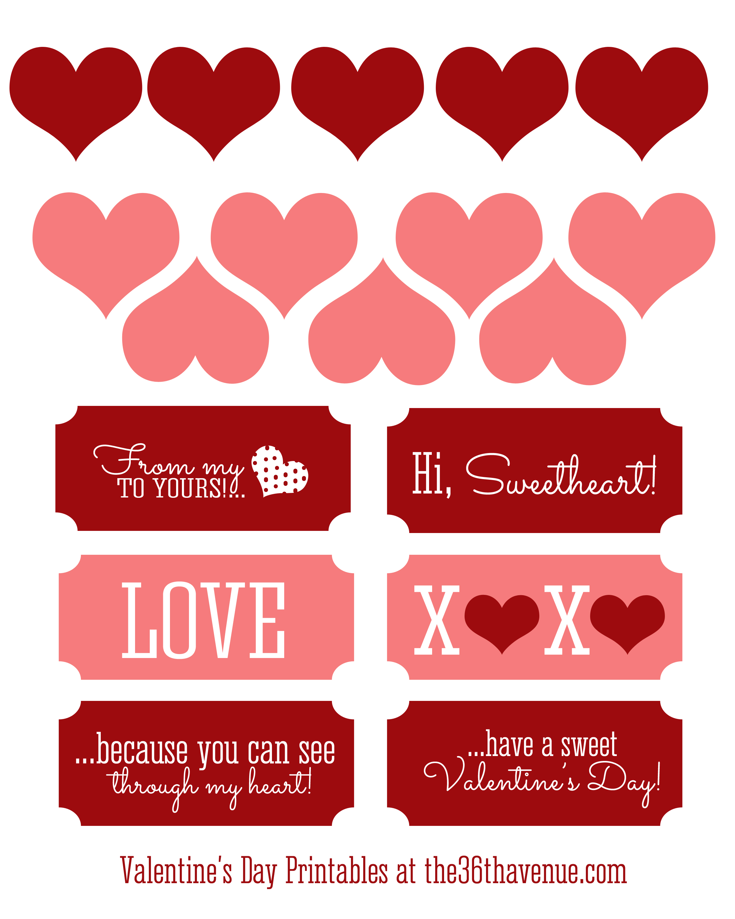 7 Images of Free Printable Valentine Candy Tags