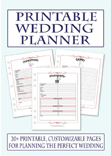 6 Images of Printable Wedding Planner Book