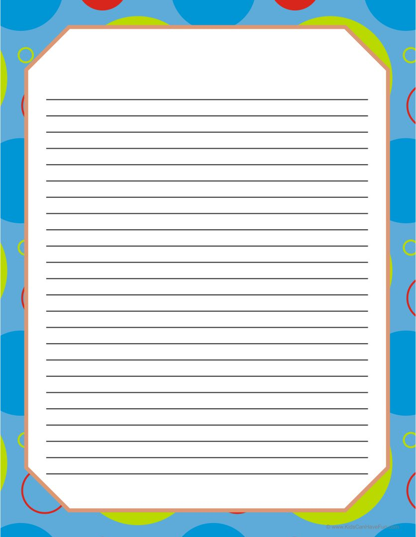 Printable Writing Paper with Borders