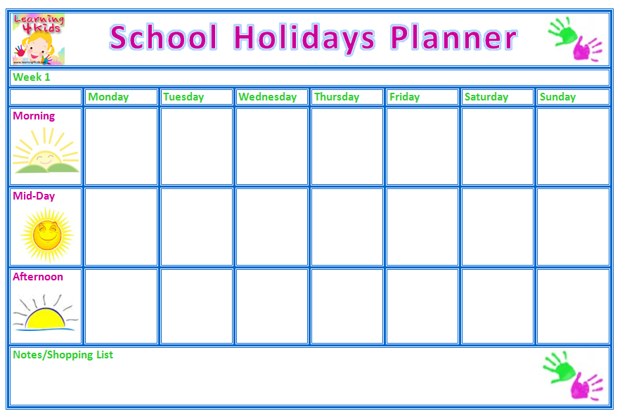 Free School Planner Printables