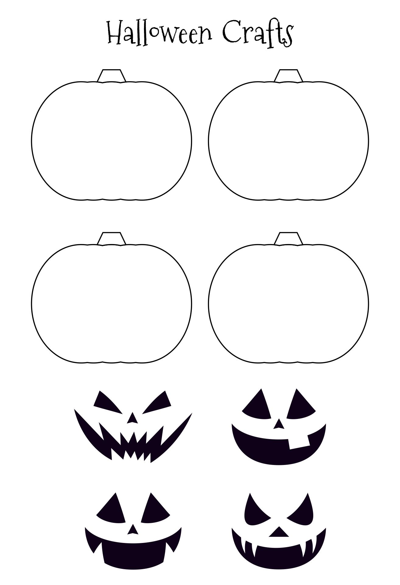 6 Images of Printable Halloween Projects