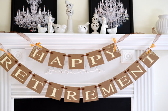 5 Images of Free Printable Happy Retirement Banner