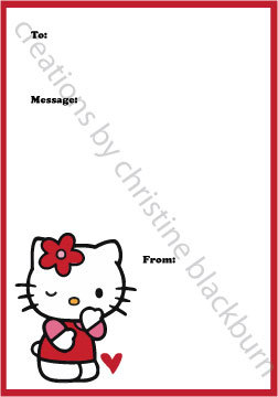 5 Images of Hello Kitty Printable Valentine's