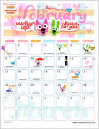 9 Images of Hallmark Hoops And Yoyo Calendar Printable Free