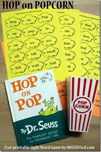 7 Images of Hop On Pop Words Printable