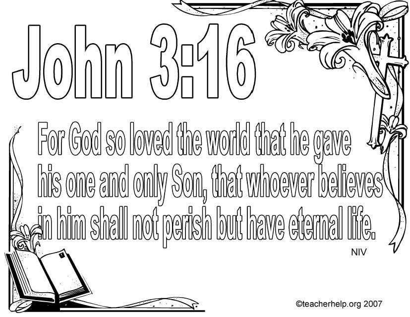 john 3 16 coloring page - 8 best images of printable verse john 3 16 bible verse