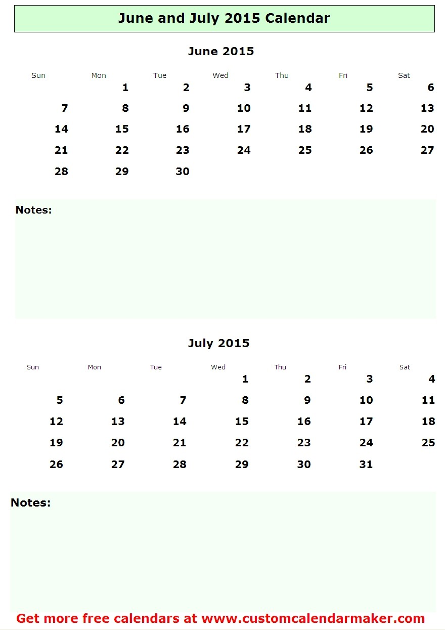 Calendar Of June And July : Best images of june july calendar printable