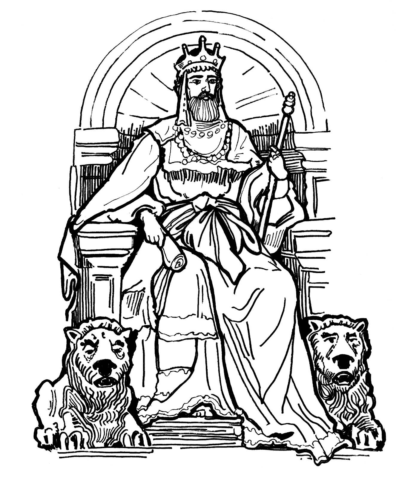7 Images of The King And His Family Coloring Page Printable