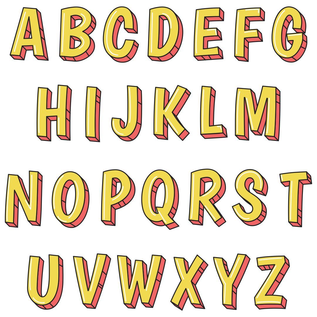 Large Alphabet Letters Print Out