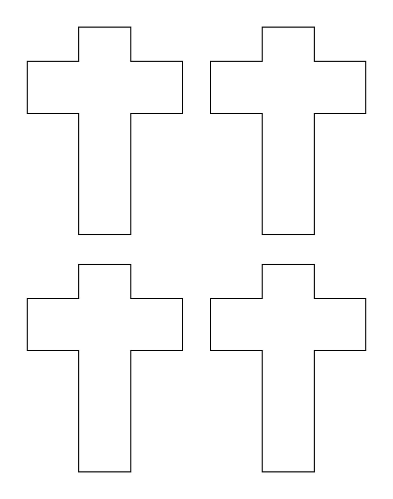 Large Cross Template