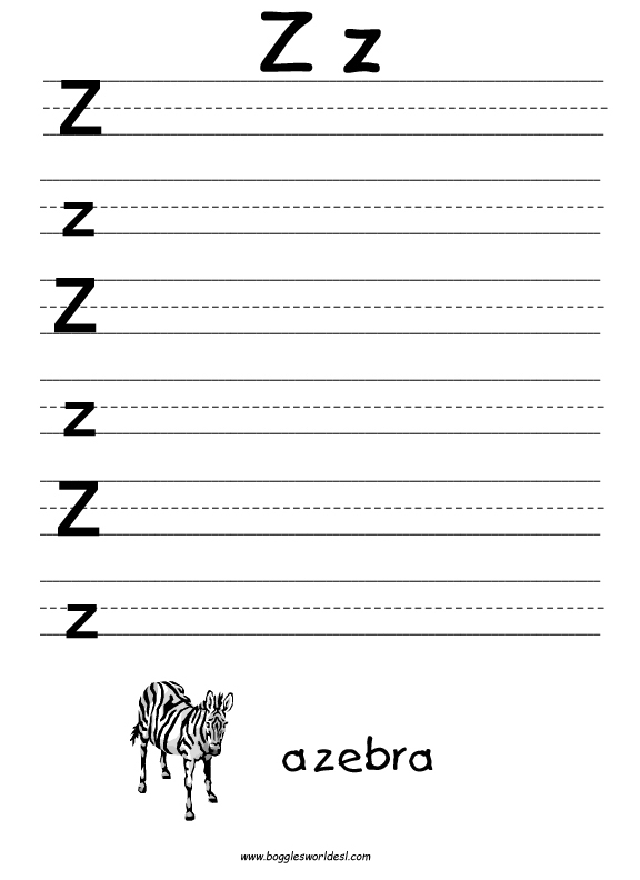 Free Worksheets » Letter Z Printable - Free Printable Worksheets ...