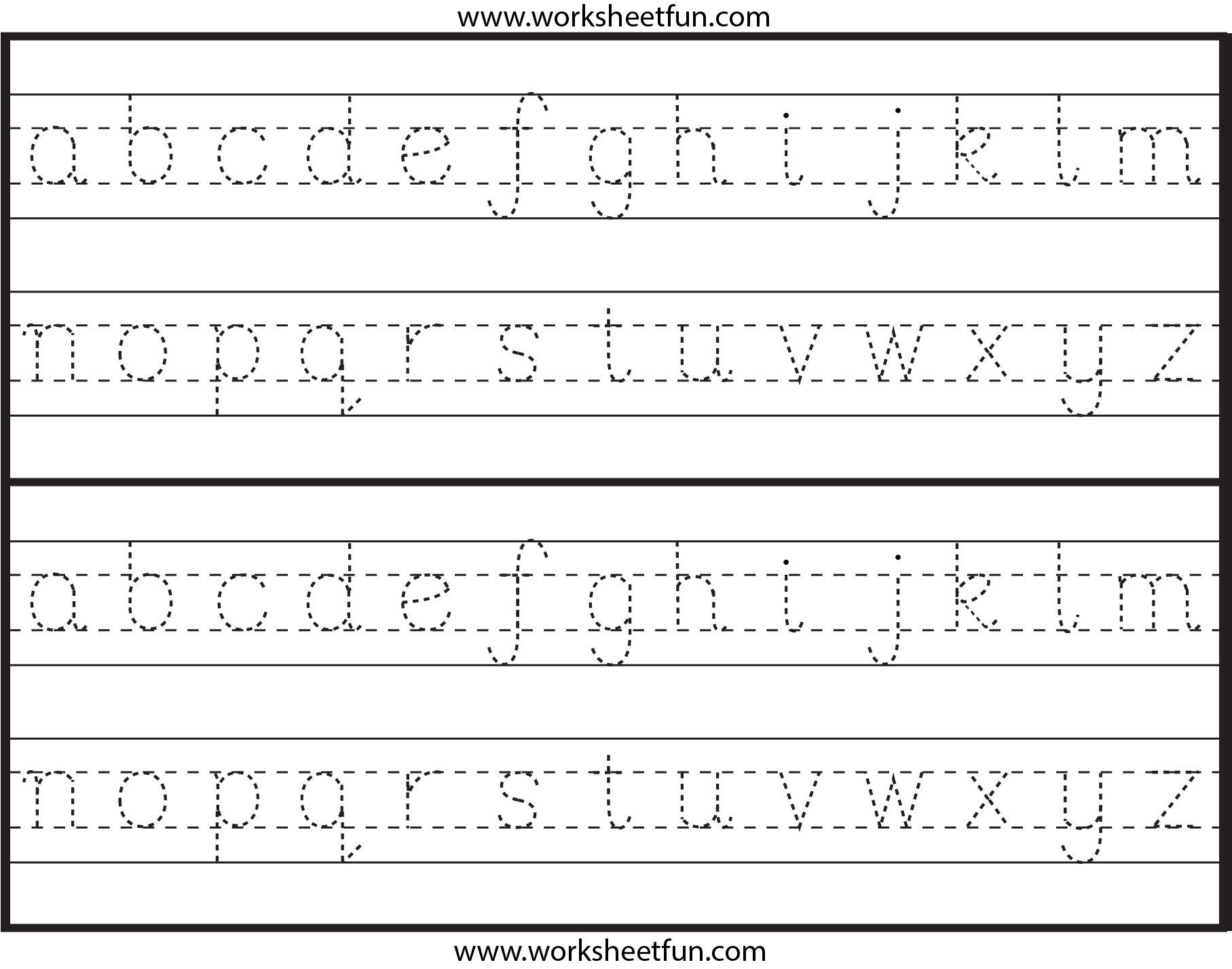 Lowercase Alphabet Tracing Worksheets Abitlikethis