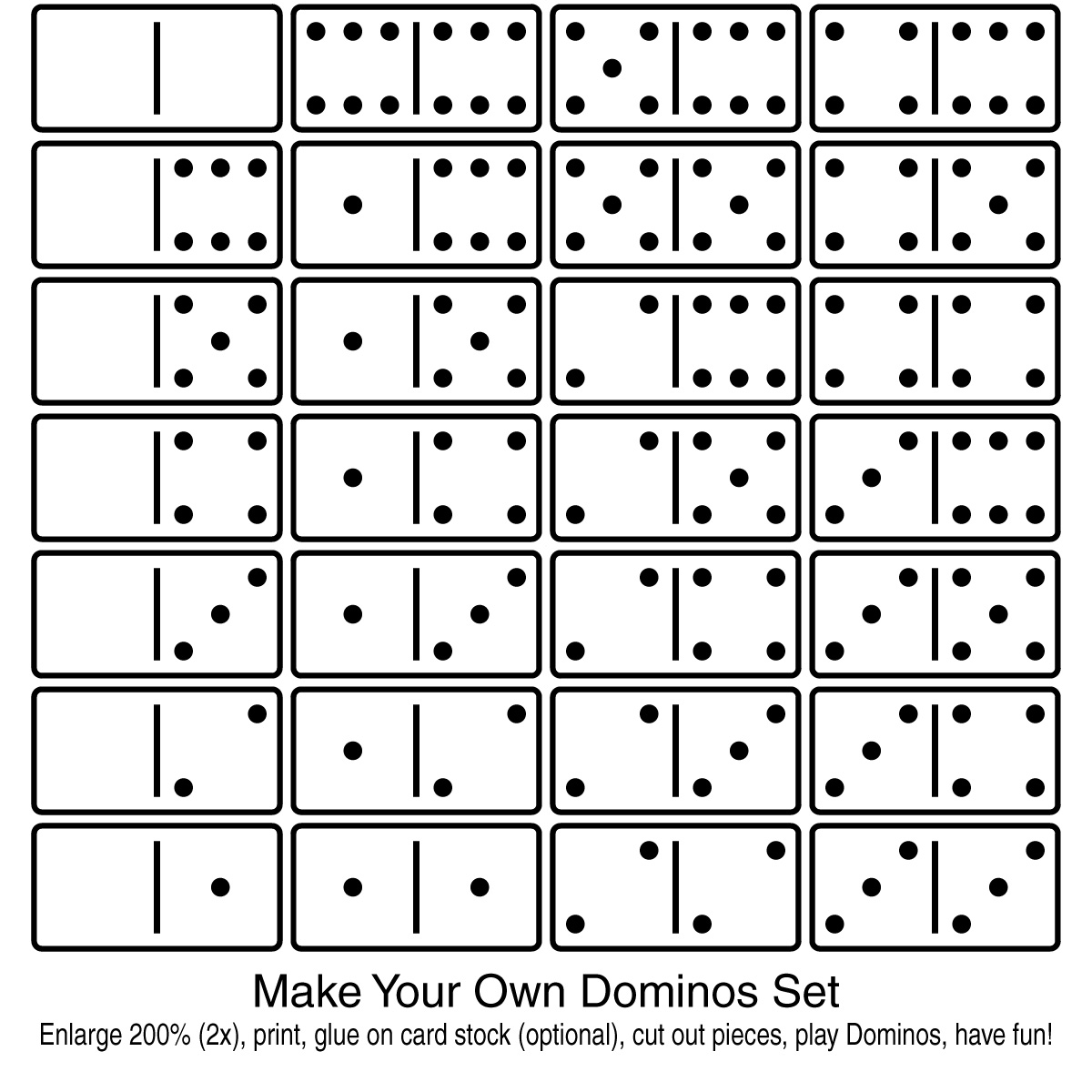 6 Images of Phonics Printable Domino Game Pieces
