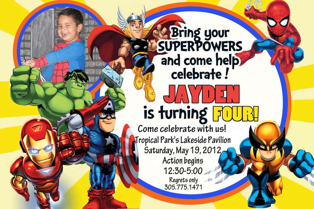 6 Best Images Of Marvel Party DIY Printable Avengers Birthday Invitations Hulk