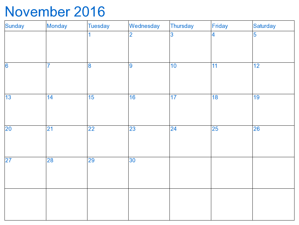 of Printable 2016 Monthly Calendar November - December 2015 Calendar ...