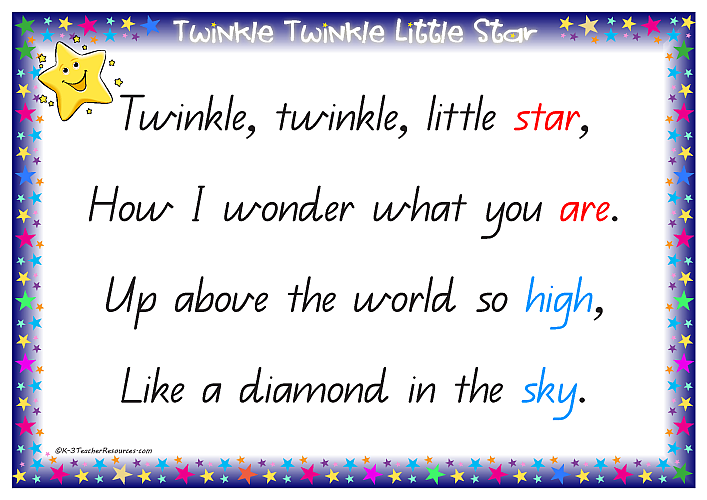 Nursery Rhymes Twinkle Twinkle Little Star