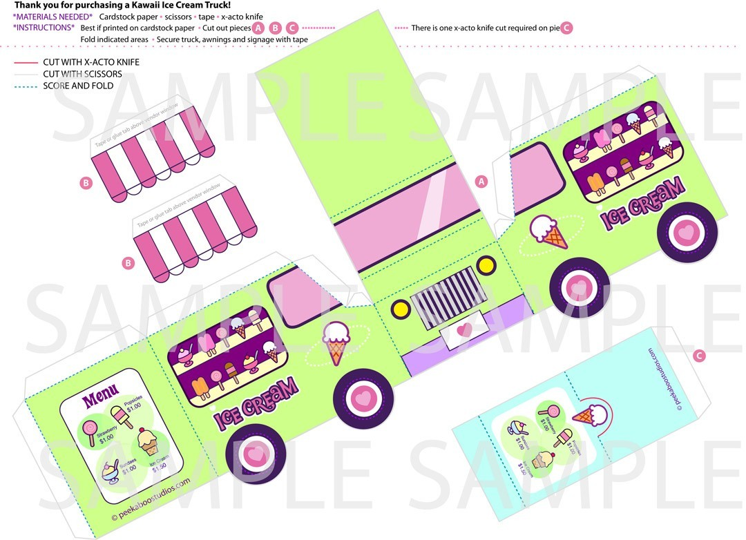 5 Images of Printable Ice Cream Truck