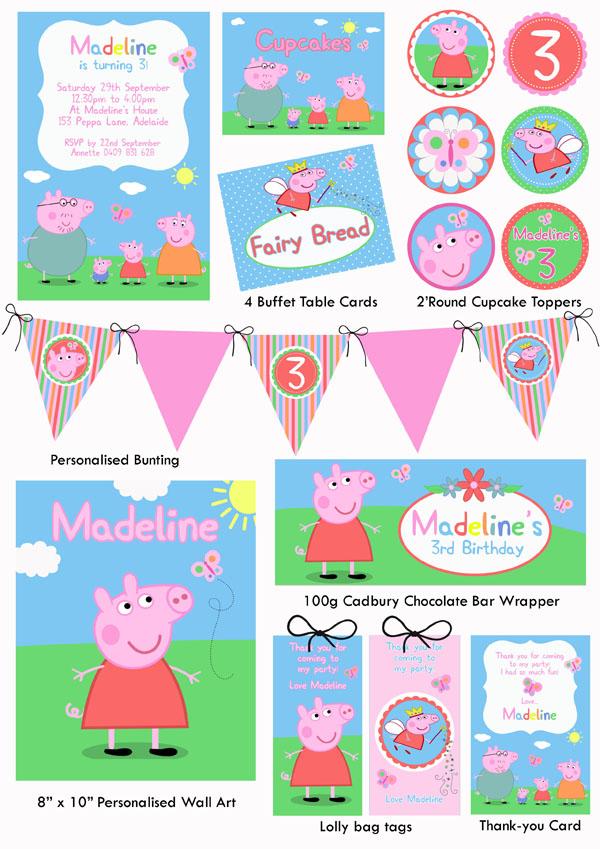 Peppa Pig Printable Birthday Decorations ~ Best images of peppa pig party free printables