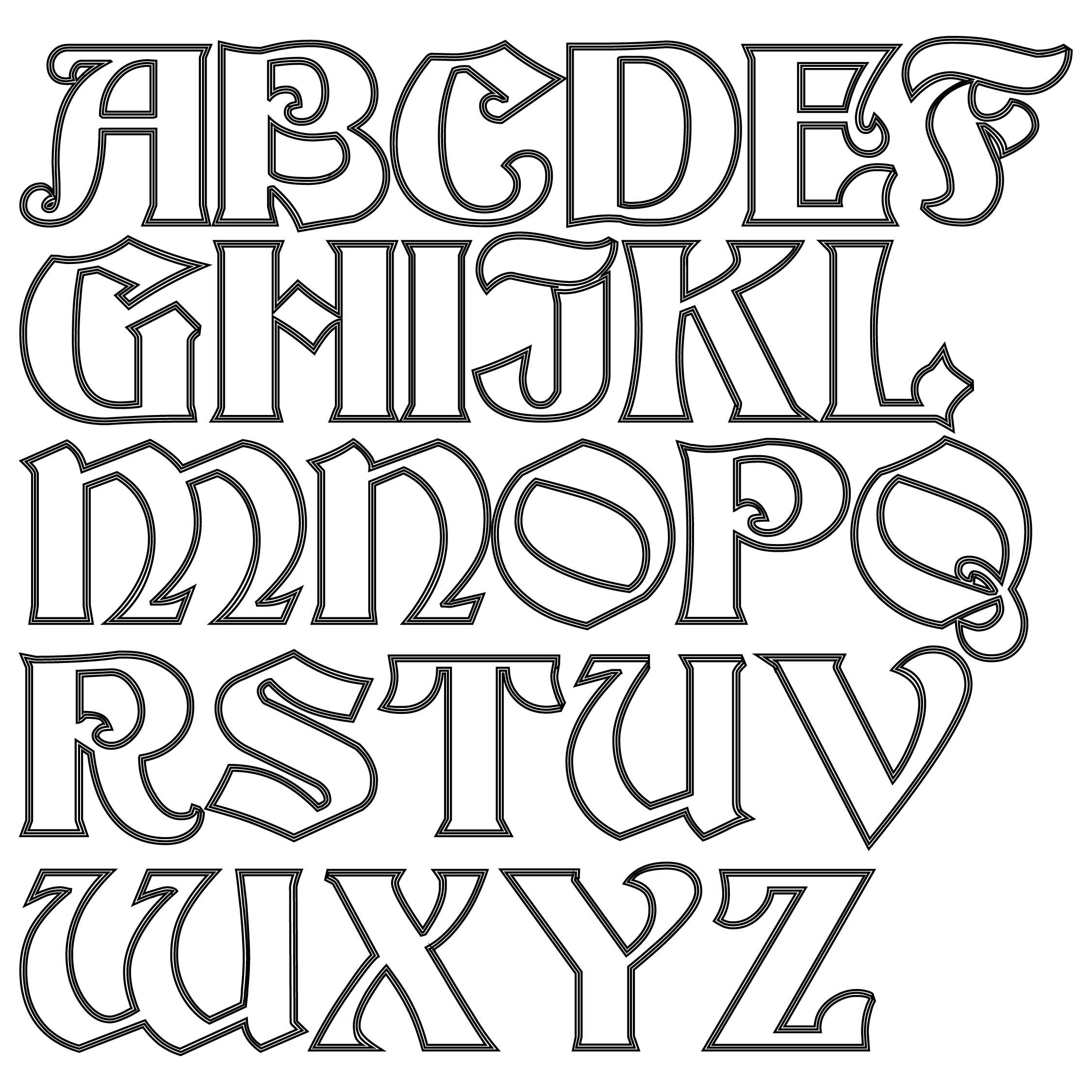 Print Cut Out Alphabet Letters
