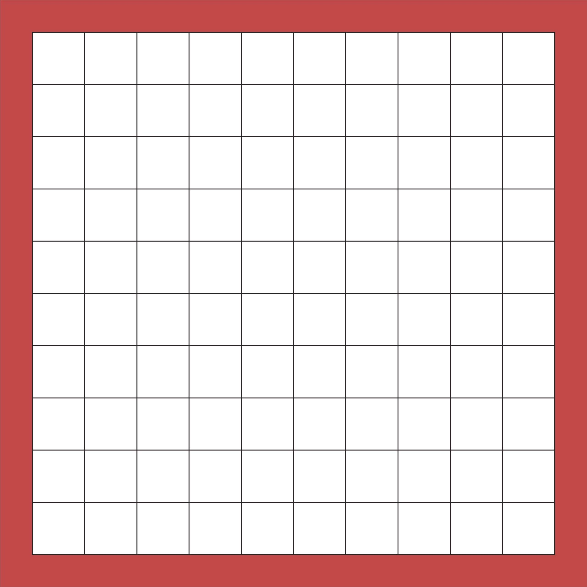 Printable Blank 100 Square Grid Paper