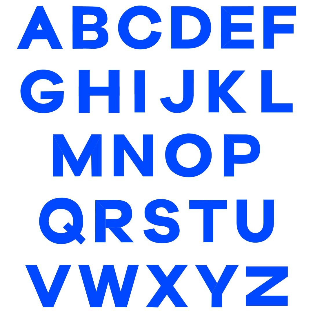 Printable Blue Alphabet Letters