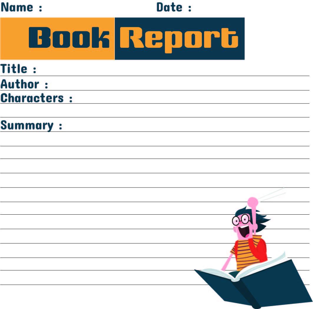 Printable Book Report Worksheet