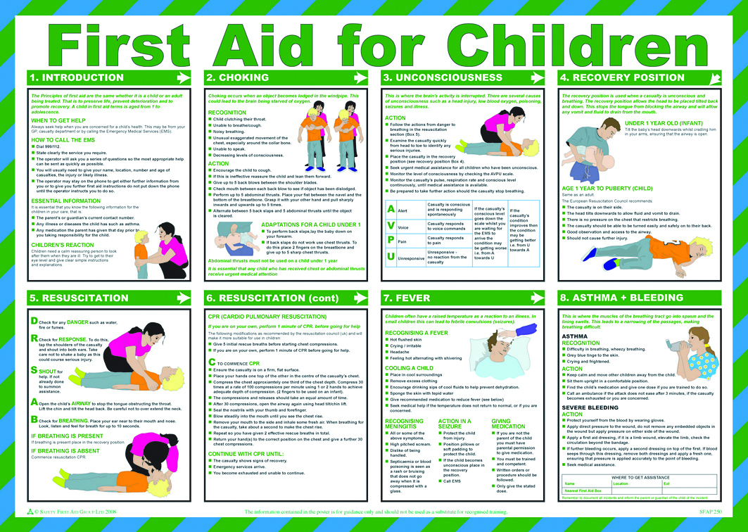 Free printable first aid worksheets