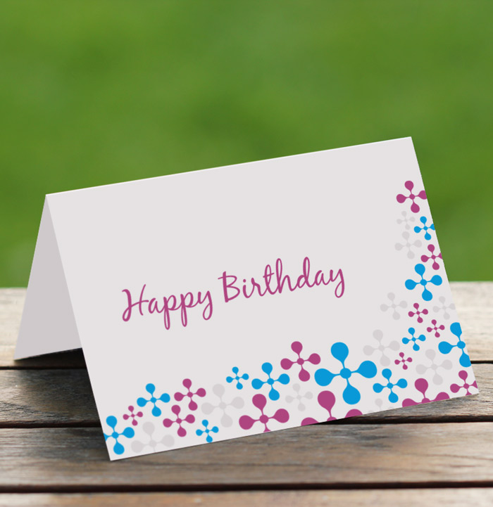 This is an image of Lively Foldable Printable Birthday Card